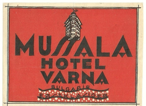 Hotelové nálepky Hotel Varna Bulgarie