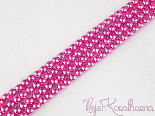 Voskové perle růžová 4mm