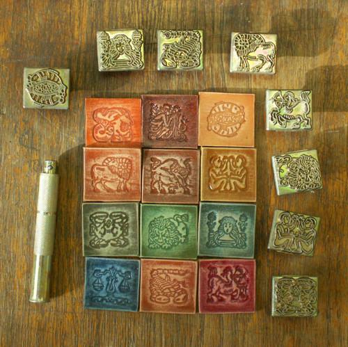 Kožené nášivky Zodiak