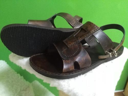Panské ručně prožívané sandále