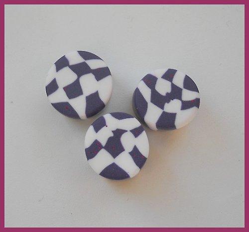 Fialová šachovnice plugy 13-14 mm
