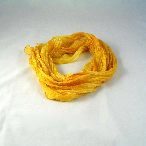 Vrapovaná šála - žluto-meruňková
