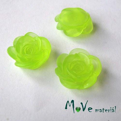 Kabošon květ transparent A4 - resin - 2ks, zelená