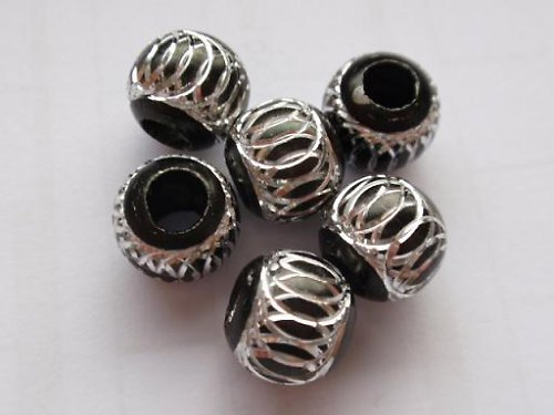 Korálek kovový černý (10 mm)