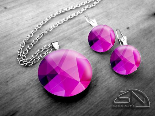 Fialový krystal