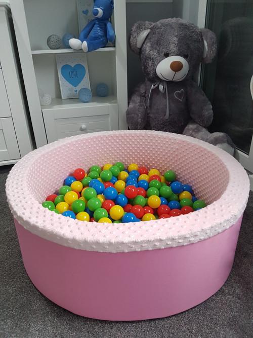Suchý bazén kulatý 90 cm x výška 30 cm, růžový