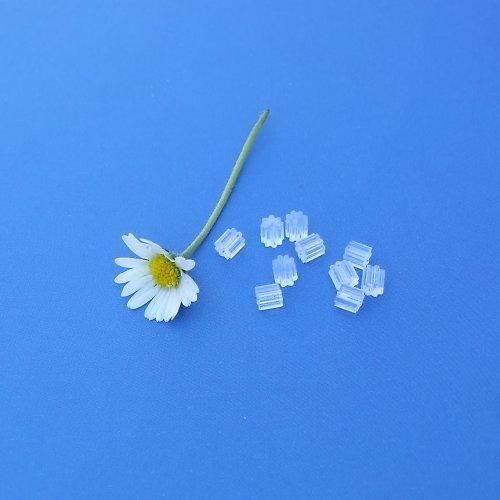Náušnicové zarážky silikon vroubkované - 100ks
