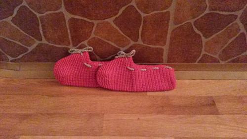 Háčkované papuče