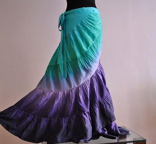 MAJÍ VÍLY SESTRY? :-)... romantická hedvábná sukně
