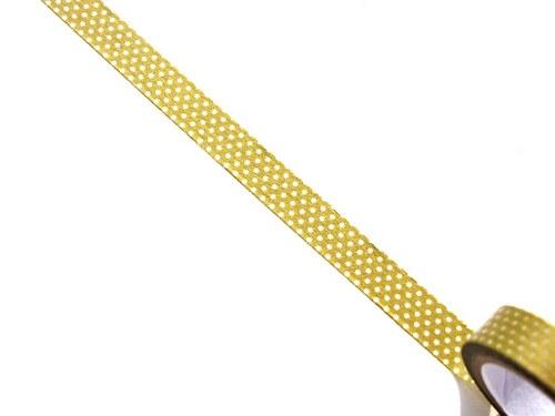 Páska: Bílé tečky na zlaté (1 x 33 cm)