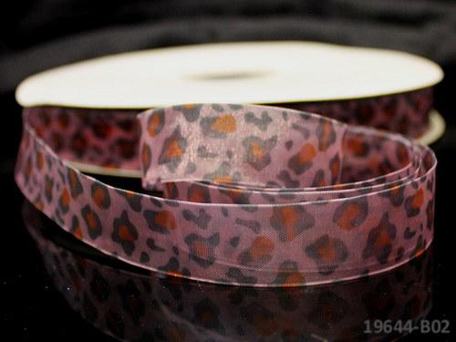 19644-B02 Stuha organza 20mm gepard barevný, á 3m
