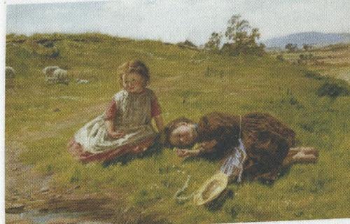 bavlněná látka - panel  8,5 x 13,5 cm