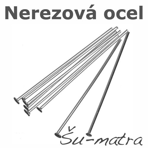 Ketlovací nýty z nerezové oceli, 50x0,6mm (100ks)