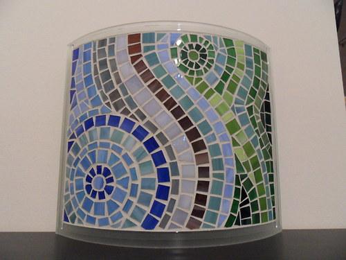 Mozaikové nástěnné svítidlo