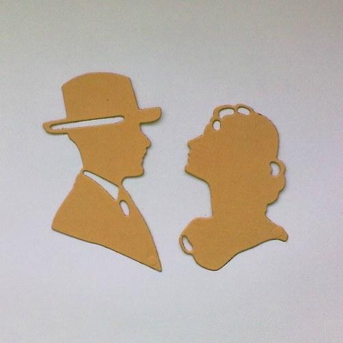 Výsek - Siluety pán a dáma