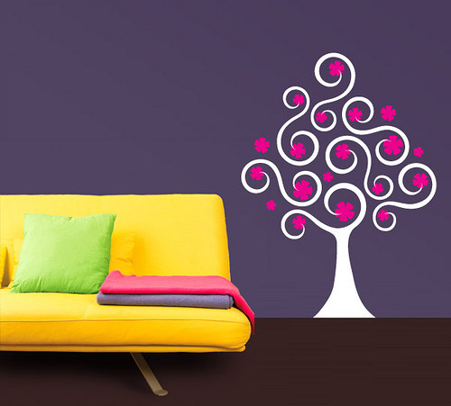 Strom vlnkovník - samolepka na zeď