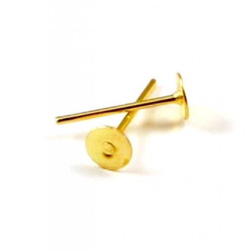 Náušnicové jehly - puzety zlaté, 12x4 mm 10 ks