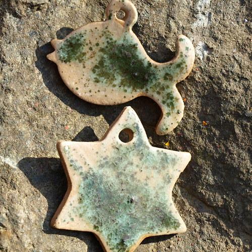 Hvězda a ryba-  irská zelená