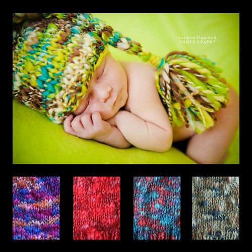 Pletená čepice nejen na focení novorozeňátek