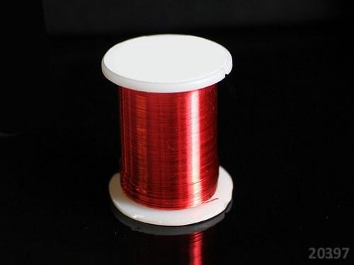 20397-B10 Bižuterní drát 0.3mm ČERVENÝ, cívka 10m