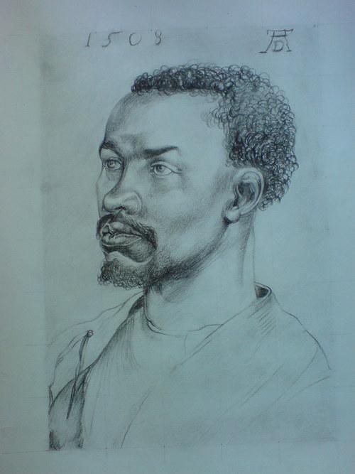 Kopie- Albrecht Dürer, Hlava černocha