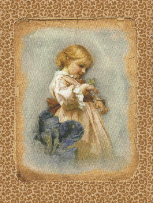 bavlněná látka - panel 7,5 x 10 cm