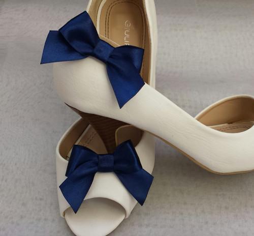 Klipy na boty pro nevěstu s námořnickou mašličkou