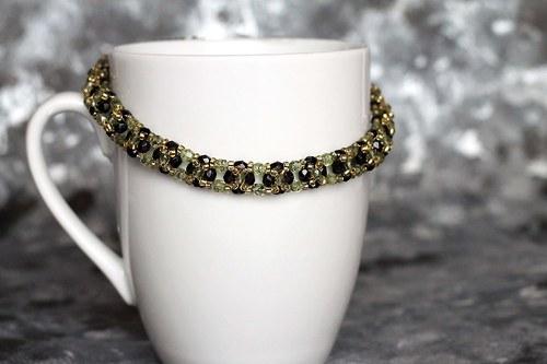 Black Velvet in Gold - náhrdelník 7