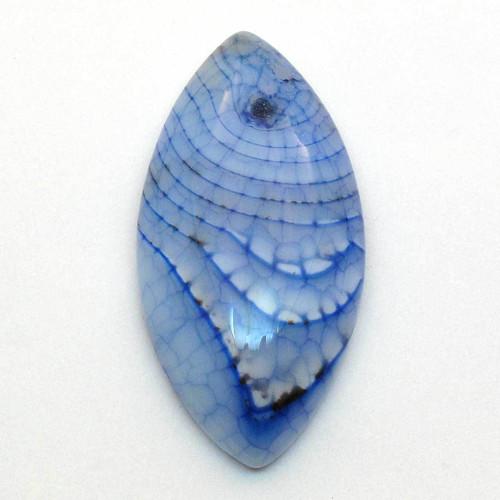 Kabošon modrý dračí achát slza 40mm