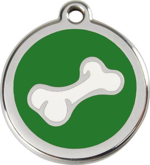 Psí známka Red Dingo: zelená kostička