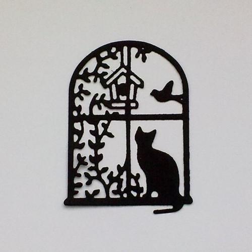 Výsek - Kočka za oknem