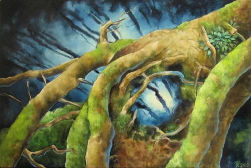Drak - olej na plátně 40 x 60