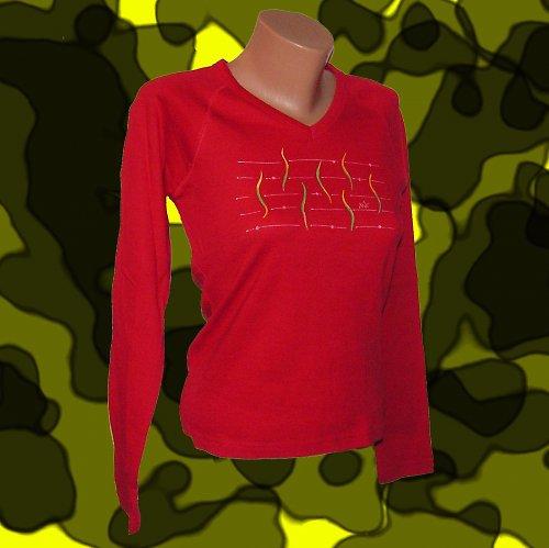 Tričko malované - červená