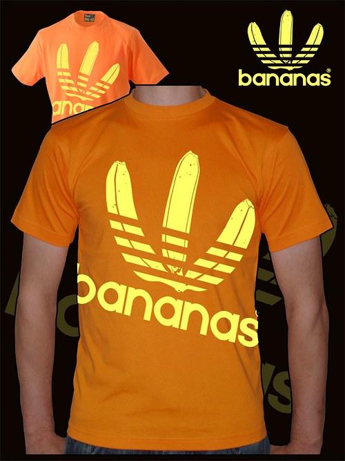 Pánské oranžové tričko Bananas velký potisk