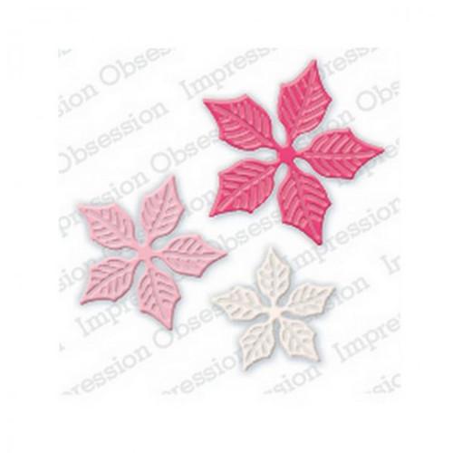 Kov. vyřez.šablony IO Stamps/Small Poinsettia Set