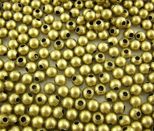 kovový korálek ant.bronz 4mm/50ks