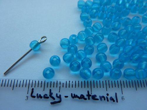 Azurové kuličky 4 mm .... 100 ks