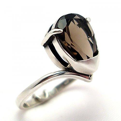 Prsten «Sen» - stříbro 925/1000, záhněda