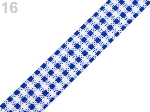 Samolep. textilní páska š.15 mm - modrá