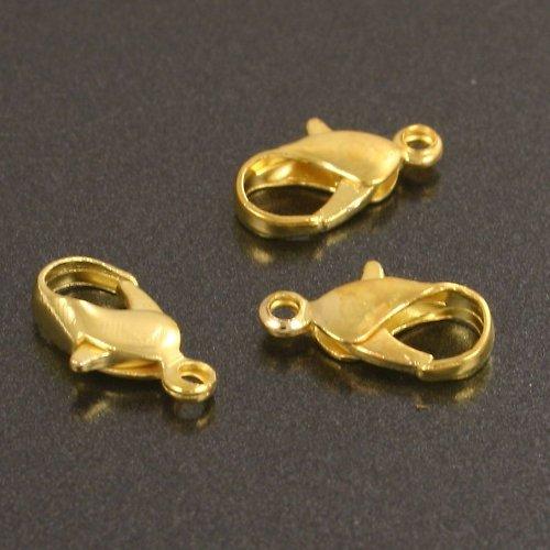 Zapínání - karabinka 12 mm zlatá 6 ks
