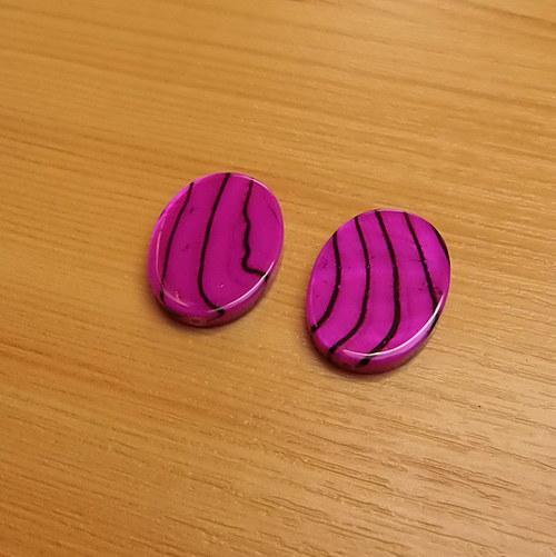 Perleťové oválky- 18 x 25mm - 2 kusy