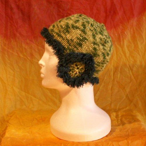 čepice pletená zelená