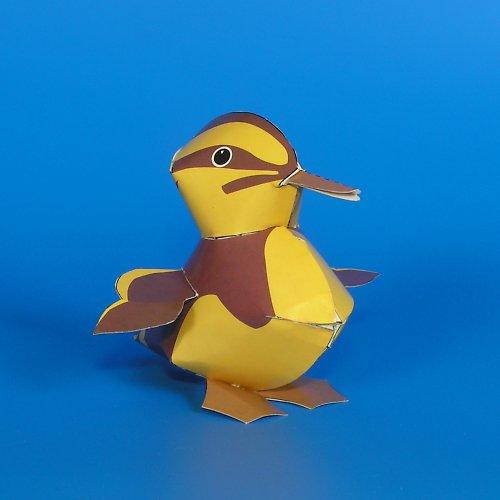 Kachně - vystřihovánka - autorská grafika