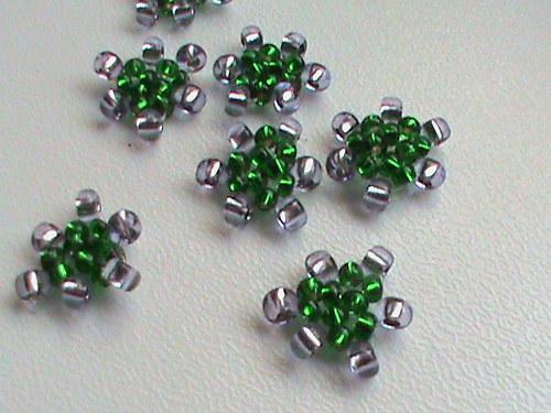 tvořilky-trojhránky zelenofialové-2 ks