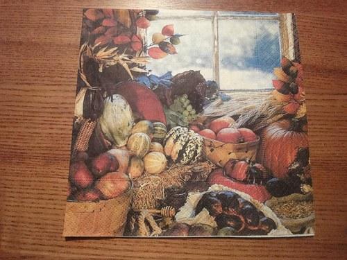 Ubrousek na decoupage - barevný podzim