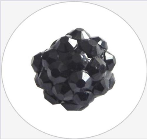 Šatonová kulička pr.12mm (2ks) - černá