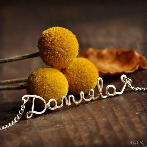 """Náhrdelník s menom / řetízek se jménem \""""Daniela\"""""""