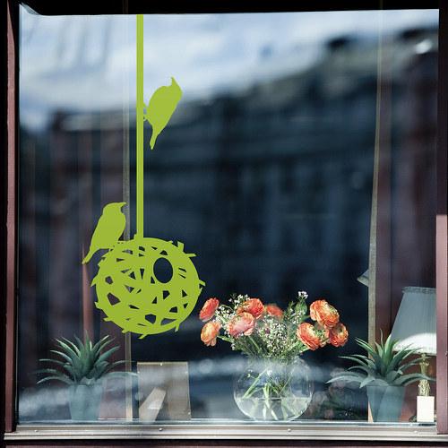 Hnízdo - samolepky na okno nebo na zeď