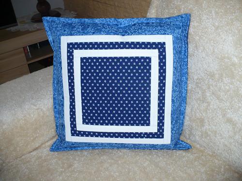 Modré snění- povlak na polštář