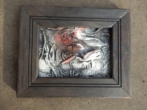Abstraktní obrázek kůže-dřevo